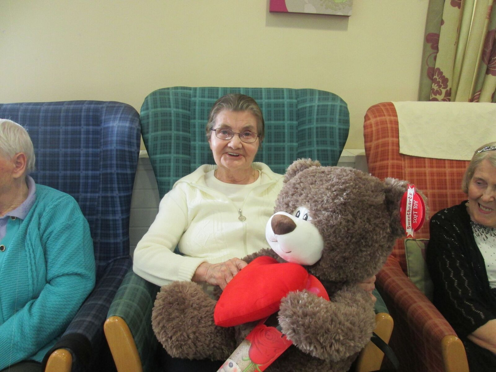 service user and teddy bear